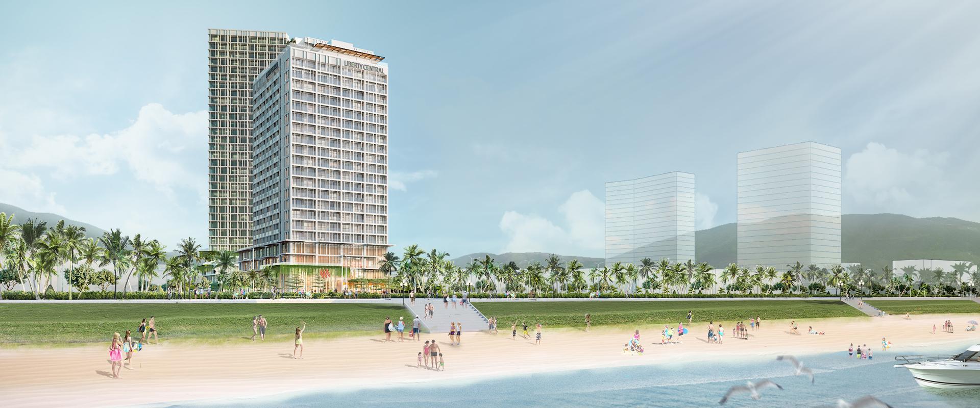 Phối cảnh tổng thể dự án khách sạn Liberty Central Quy Nhơn