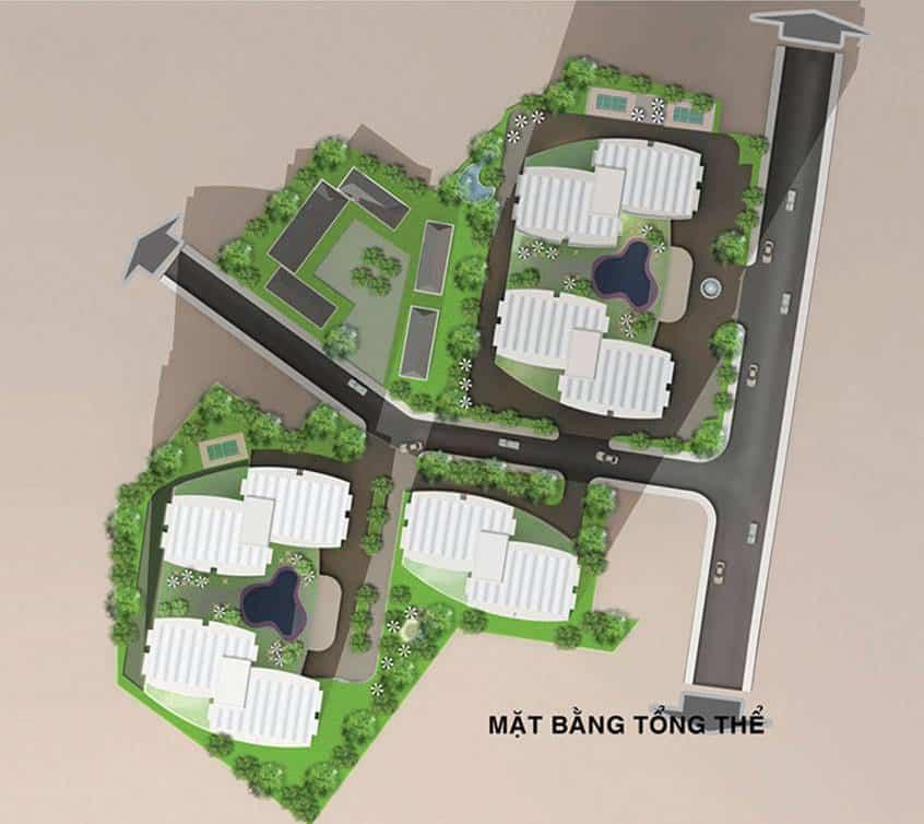 Mặt bằng tổng thể dự án căn hộ BMC Lũy Bán Bích quận Tân Phú