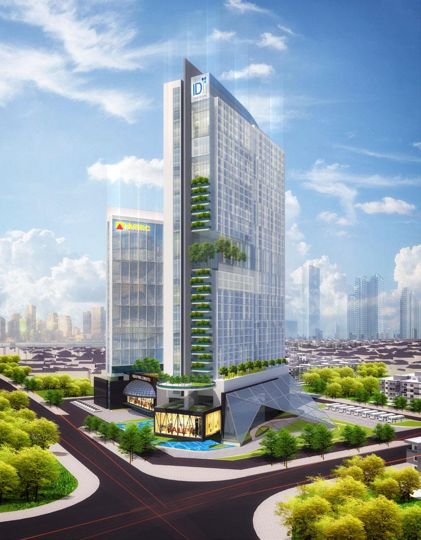 Phối cảnh tổng thể tổ hợp dự án Apec Dubai Towers Ninh Thuận