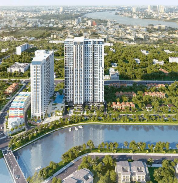 Phối cảnh dự án căn hộ La Astoria quận 2 giai đoạn 2 (block bên phải)