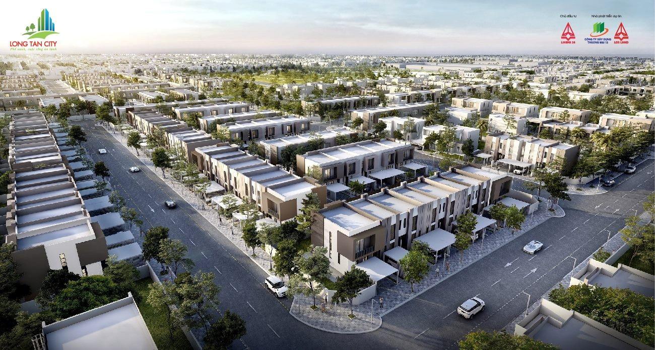 Phối cảnh tổng thể dự án Long Tân City