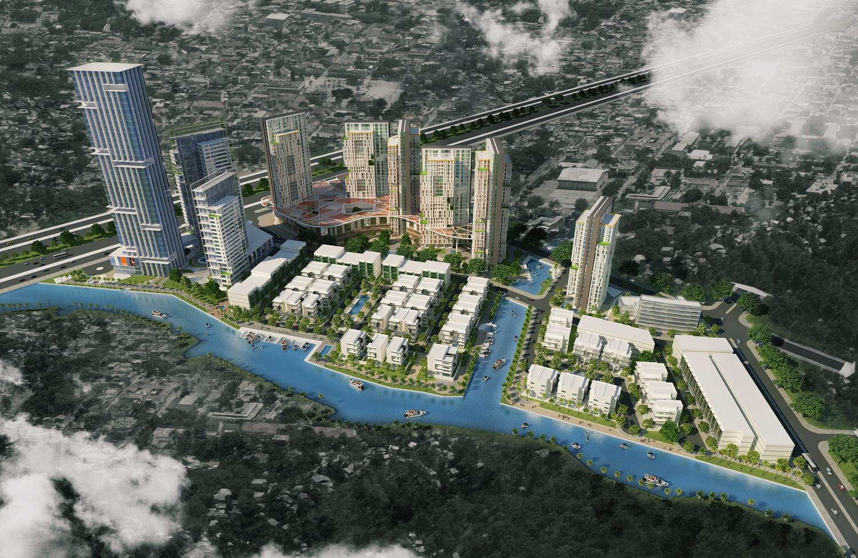 Phối cảnh tổng thể dự án khu dân cư Green Field huyện Bình Chánh