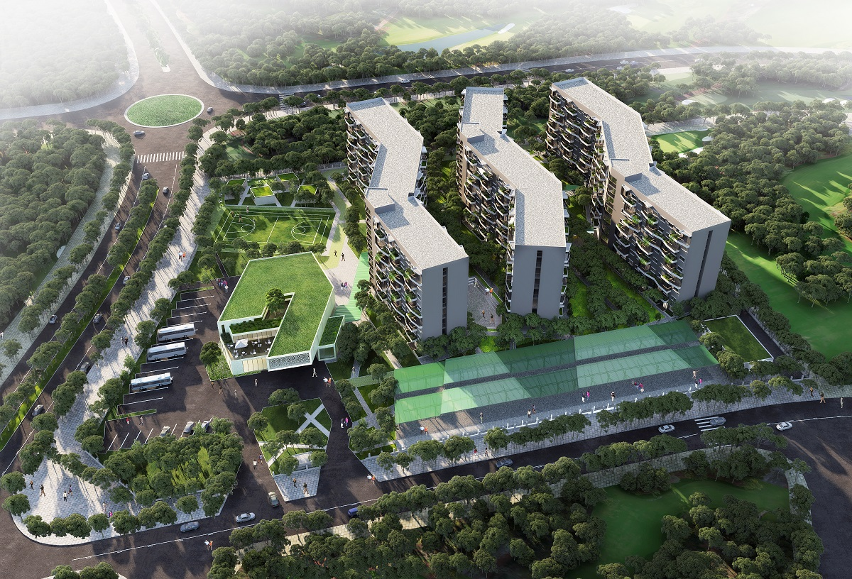 Phối cảnh khu nhà nghỉ dự án Nam Hội An Staff Village Quảng Nam