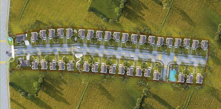 Mặt bằng tổng thể dãy biệt thự vườn Haya Home Long An