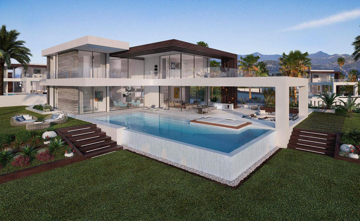 Phối cảnh căn biệt thự Pearl Sea Villas diện tích 1.000m2 có hồi bơi riêng