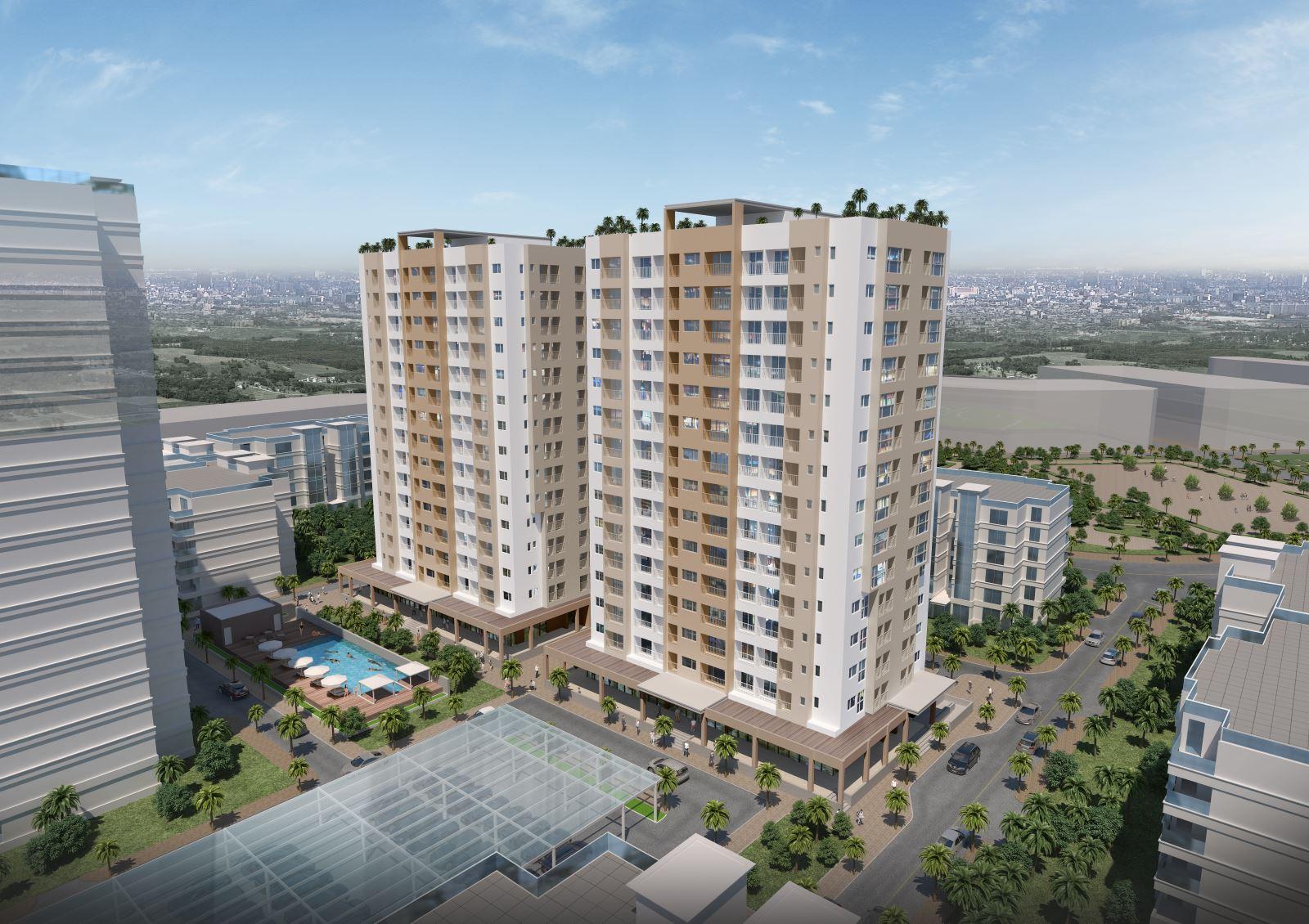 Phối cảnh cao ốc Đông Thuận 1 & 2 quận 12
