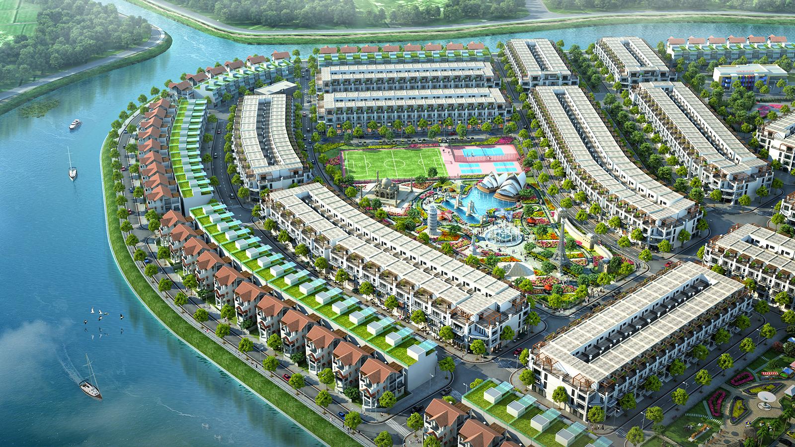 Riêng tiểu khu An Lộc được quy hoạch tiếp giáp với mặt sông, tích hợp công viên thế kỷ mang lại không gian xanh