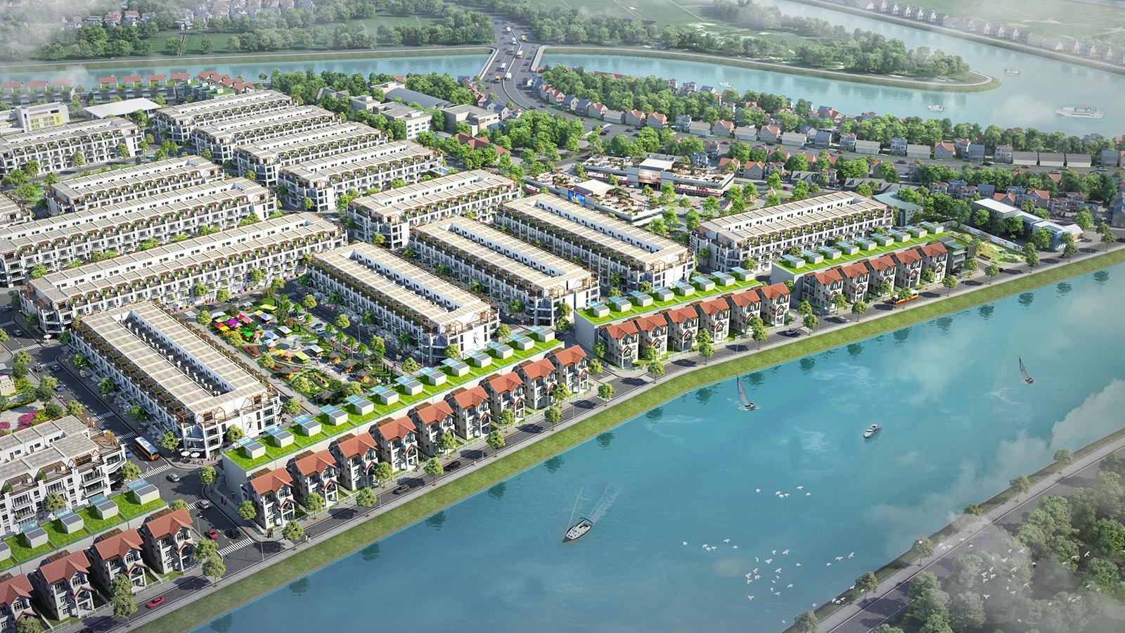 Phân khu An Thịnh tập trung phát triển khu trung tâm thương mại nằm ngay sát Quốc lộ 1A