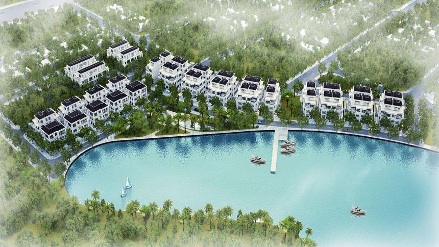Phối cảnh tổng thể khu biệt thự Pearl Villas Hạ Long