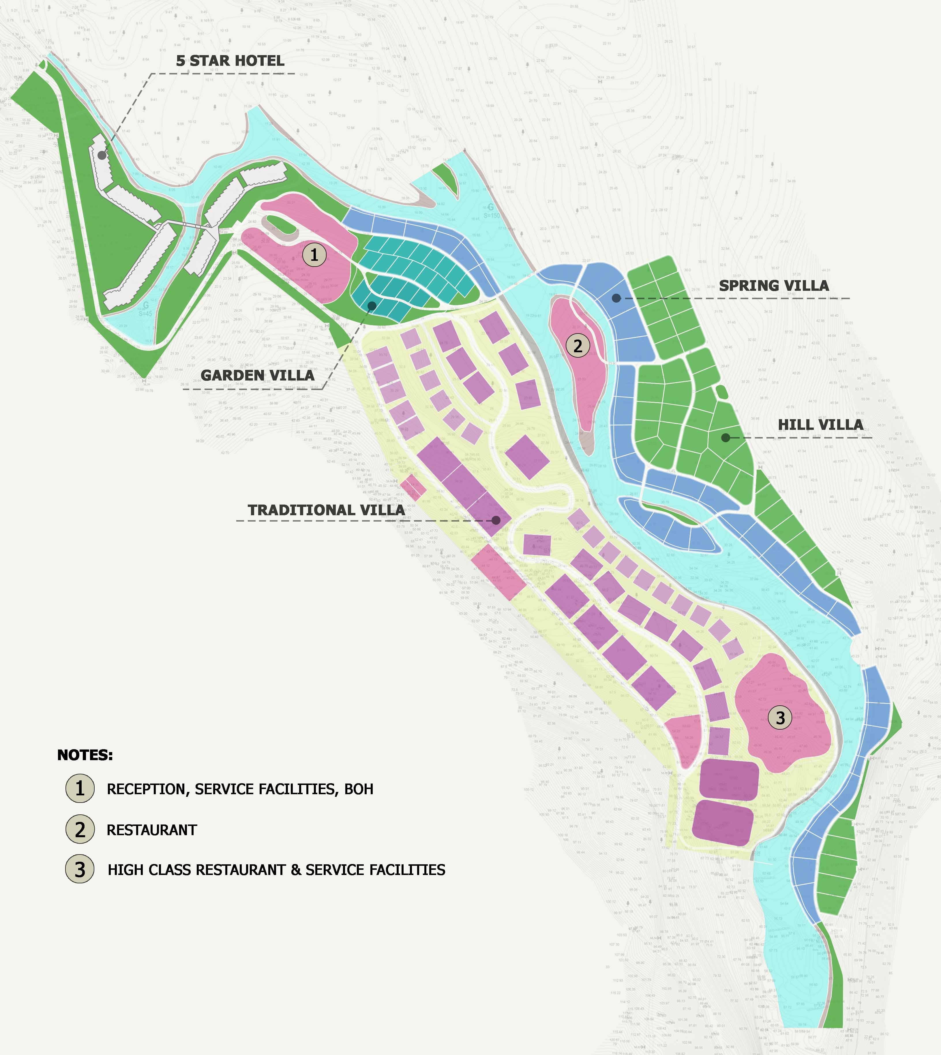 Mặt bằng dự án Bạch Mã Hill Spring Resort