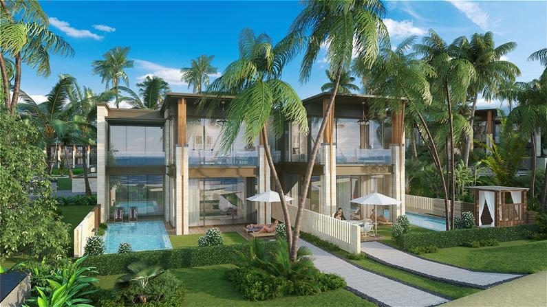 Phối cảnh căn biệt thự điển hình dự án 6 Miles Coast resort