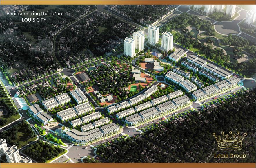 Phối cảnh tổng thể dự án khu đô thị Louis City