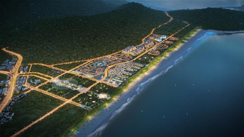 Phối cảnh tổng thể dự án 6 Miles Coast Resort Lăng Cô