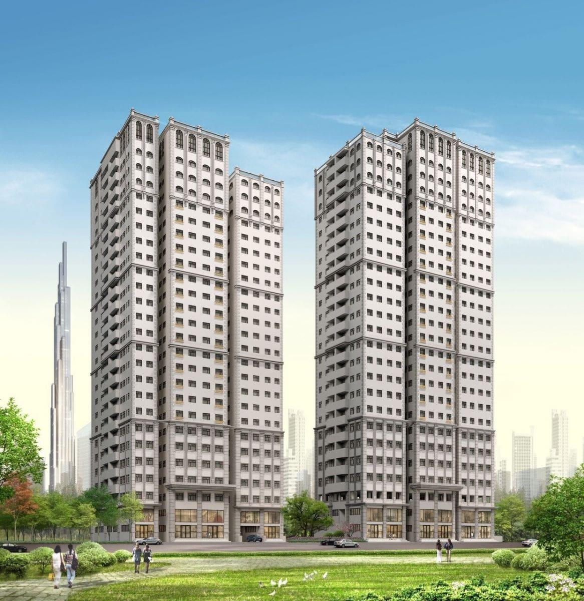 Phối cảnh tổng thể dự án Paris Hoàng Kim quận 2