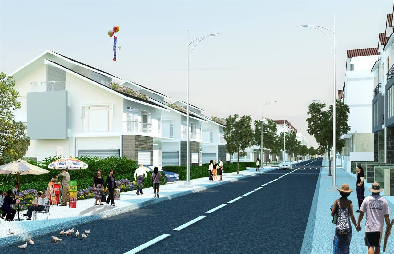 Phối cảnh hệ thống đường nội khu dự án Bảo Ngọc Residence