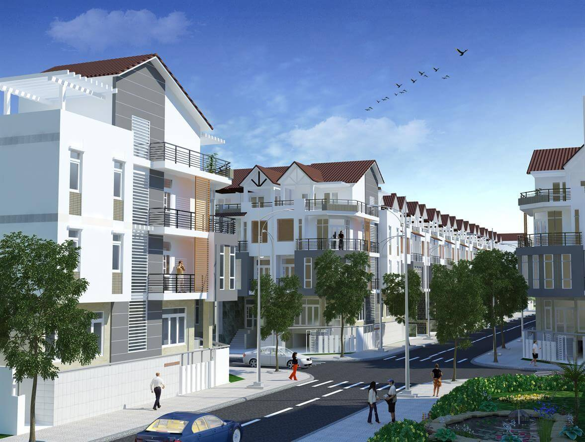 Phối cảnh một góc dự án khu dân cư Bảo Ngọc Long An