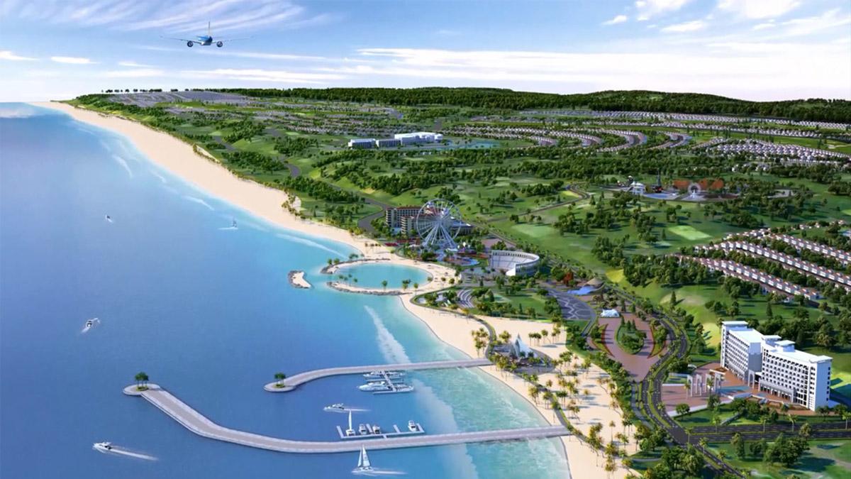 Phối cảnh tổng thể dự án nghỉ dưỡng Novaworld Phan Thiết