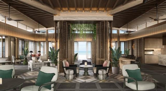 Phối cảnh không gian quán cafe trong khuôn viên khách sạn của tổ hợp dự án nghỉ dưỡng Park Hyatt Phu Quoc