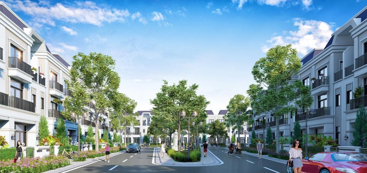 Phối cảnh hệ thống đường nội khu của khu dân cư Solar City