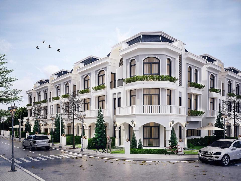 Phối cảnh một góc các căn nhà phố dự án Solar City
