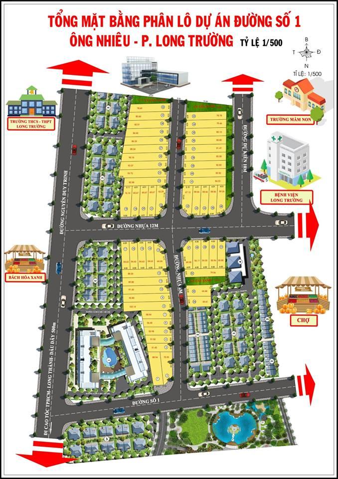 Mặt bằng phân lô dự án Phú Thành Riverside
