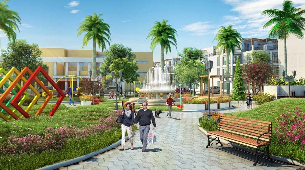 Phối cảnh công viên nội khu của khu đô thị TNR Đồng Văn