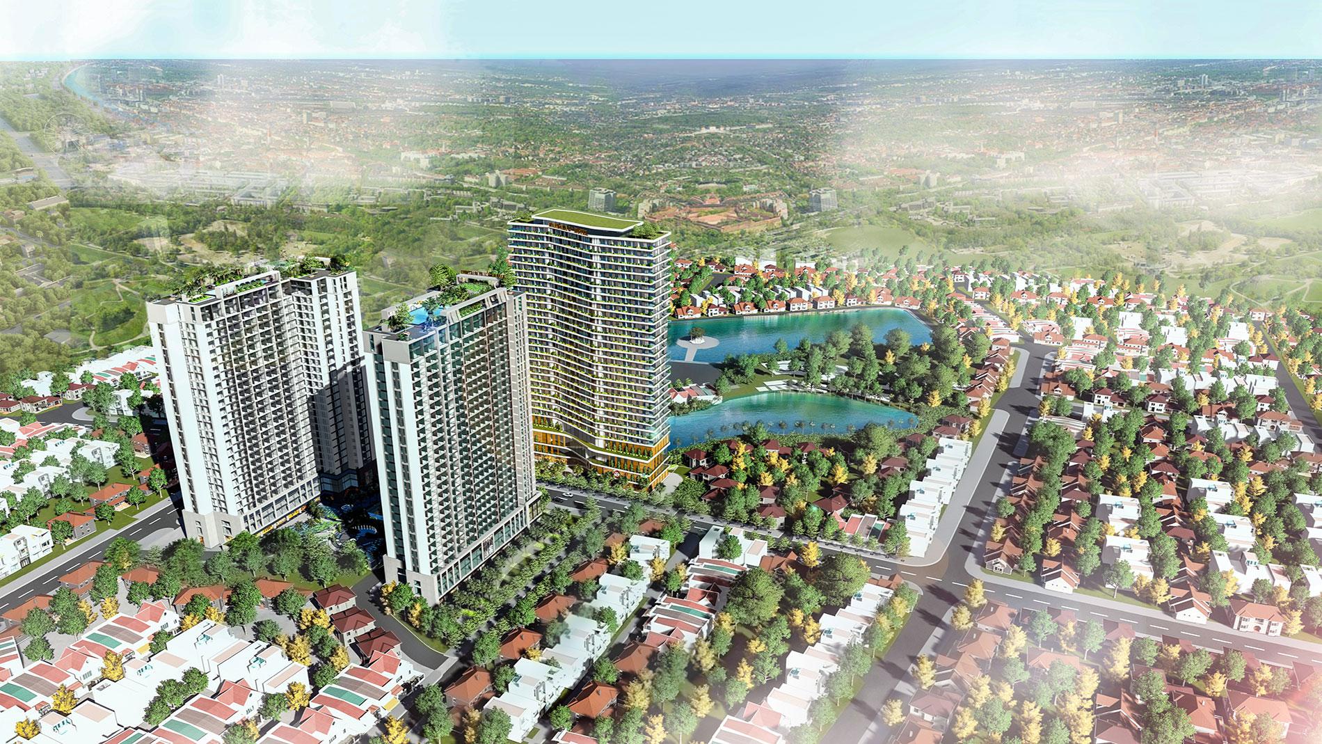 Phối cảnh tổng thể dự án Apec Aqua Park Bắc Giang