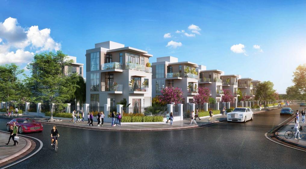 Phối cảnh dãy biệt thự khu đô thị TNR Đồng Văn