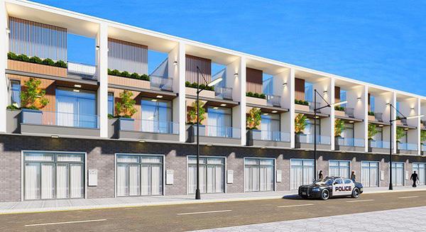 Phối cảnh các căn shophouse dự án Tắc Cậu Riverside Kiên Giang