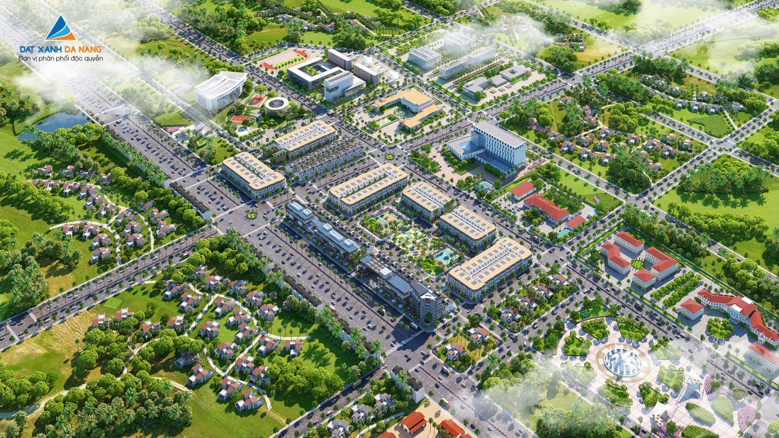 Phối cảnh tổng thể dự án khu dân cư Sunfloria City Quãng Ngãi