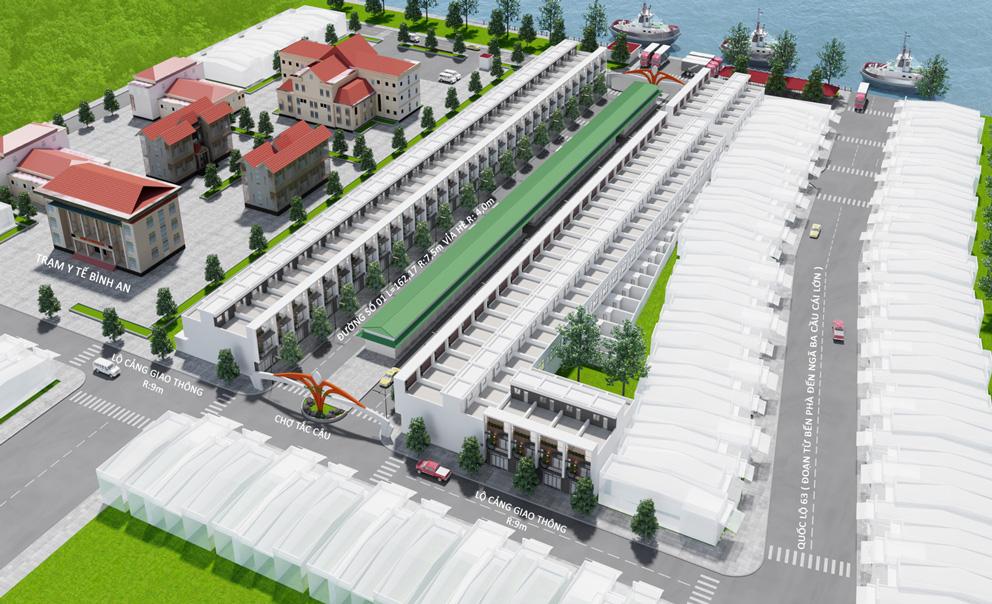 Phối cảnh tổng thể dự án Tắc Cậu Riverside Kiên Giang