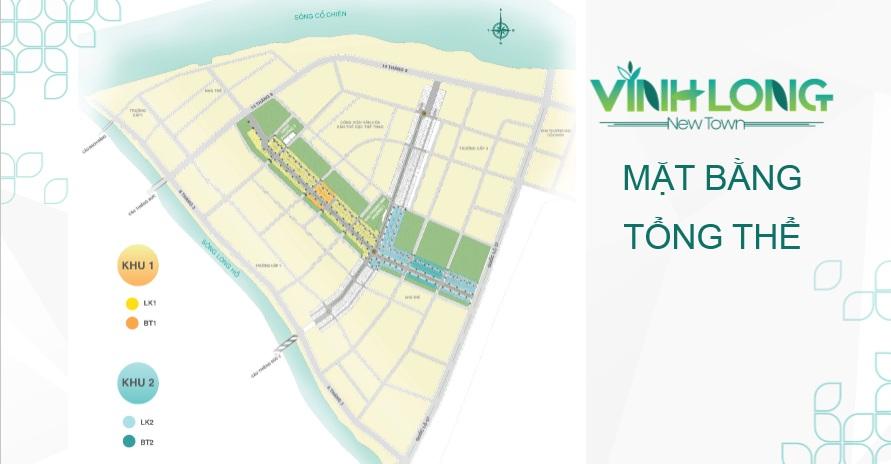 Mặt bằng tổng thể dự án Vĩnh Long New Town