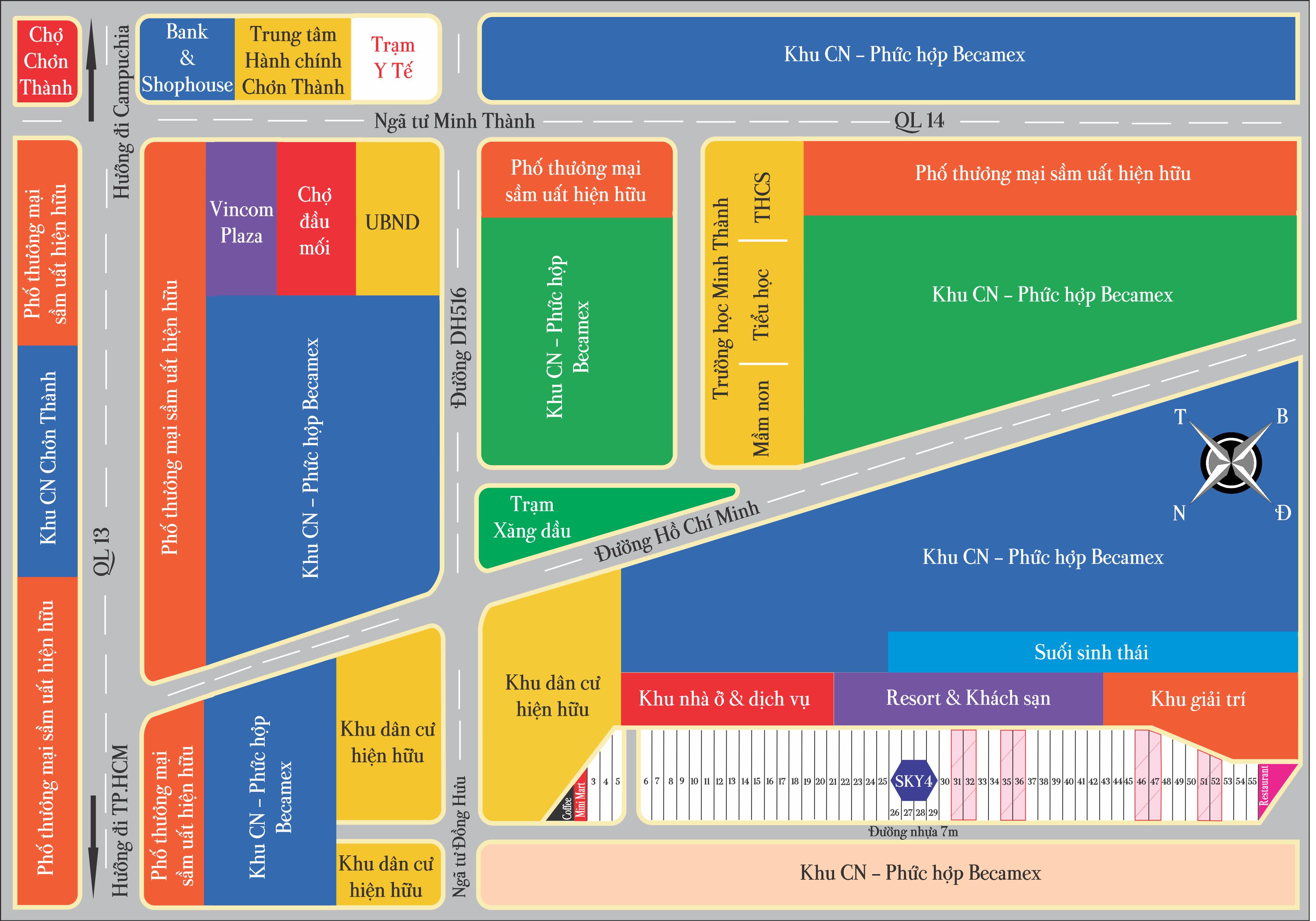 Mặt bằng tổng thể dự án khu dân cư Sky Center City IV