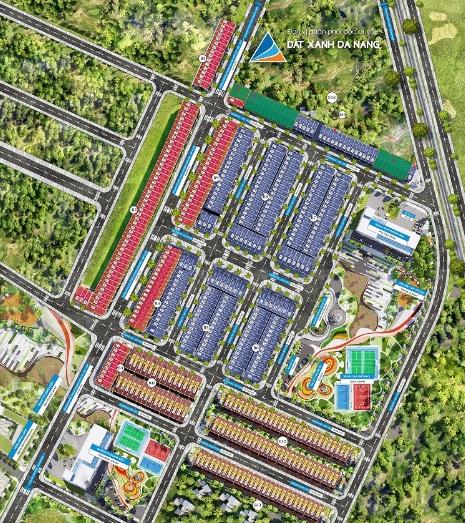 Mặt bằng tổng thể khu dân cư Phú Điền