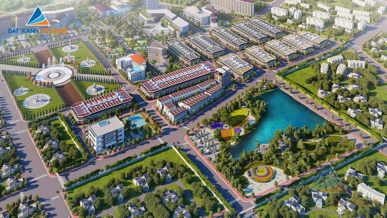 Phối cảnh tổng thể dự án Buôn Hồ Central Park (khu đô thị Đông Nam)