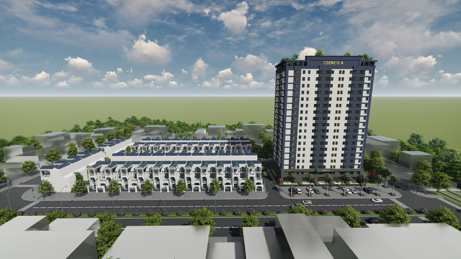 Phối cảnh tổng thể dự án Cienco4 Tower Nghệ An