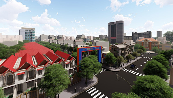 Phối cảnh dự án Sky Center City IV Bình Phước