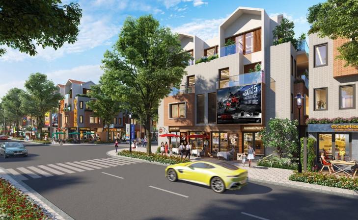 Phối cảnh một góc căn nhà phố trong khu dân cư Baria Residence Bà Rịa – Vũng Tàu