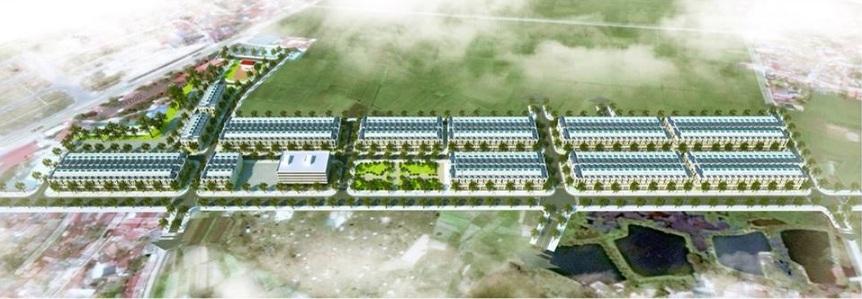Phối cảnh tổng thể dự án khu đô thị Dĩnh Trì