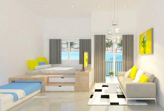 Phối cảnh phòng ngủ nhà mẫu dự án Rubi Homes