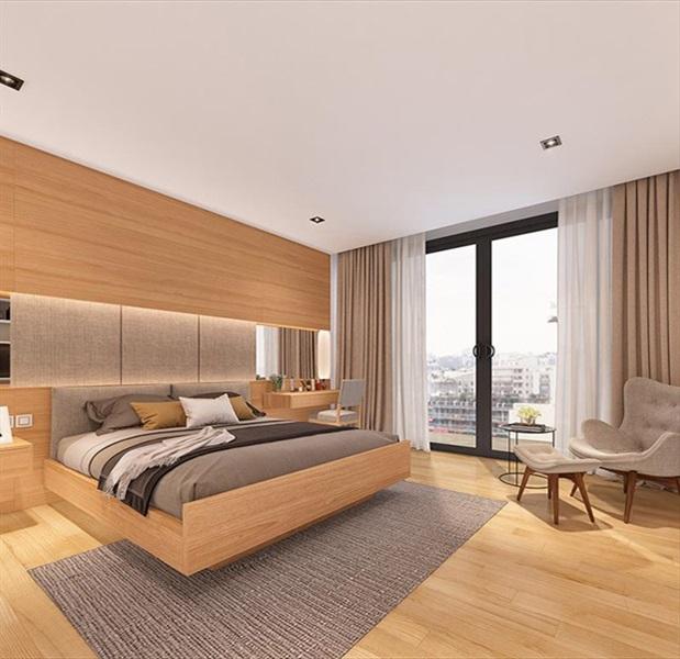 Phối cảnh phòng ngủ nhà mẫu dự án căn hộ 245 Hoàng Văn Thụ