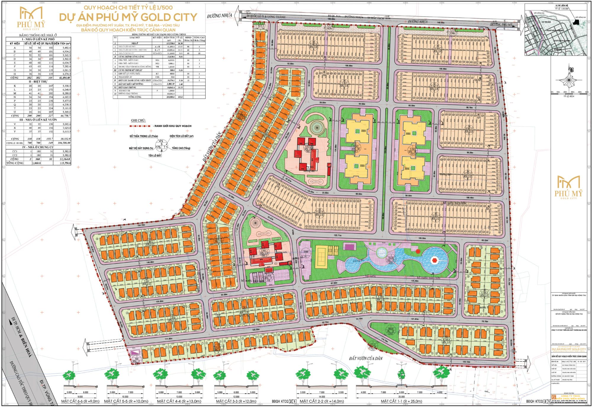 Mặt bằng tổng thể dự án khu dân cư Phú Mỹ Gold City
