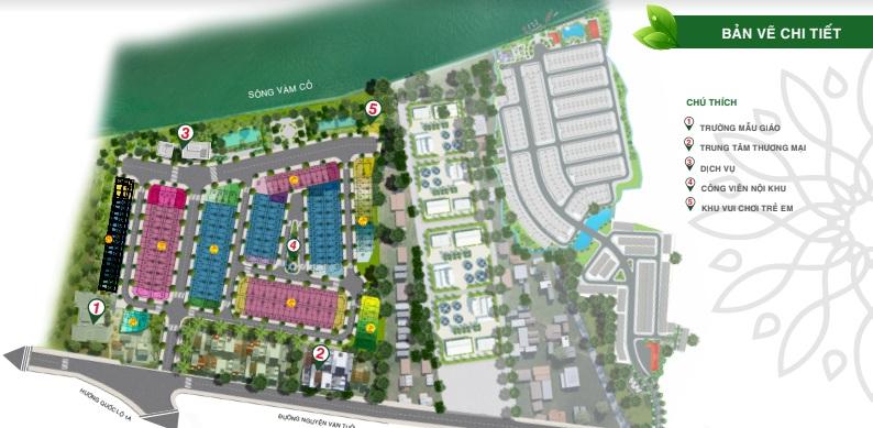 Mặt bằng tiện ích nội khu dự án Solar City