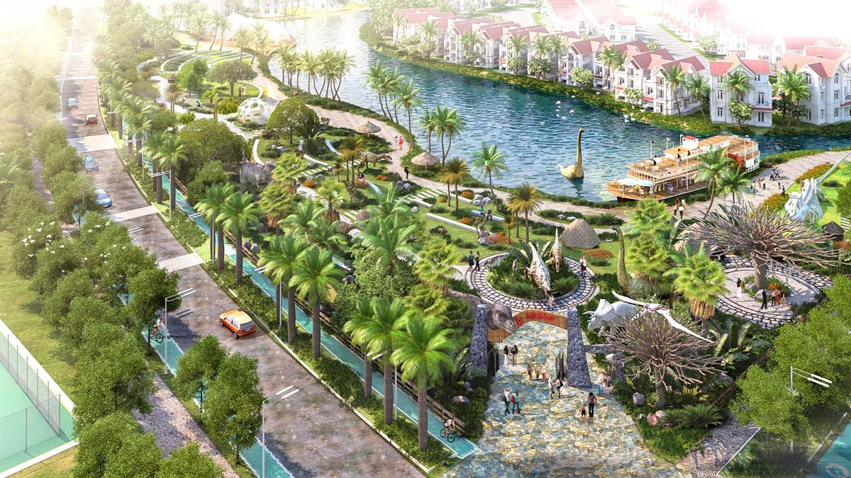 Phối cảnh công viên nội khu dự án Phú Mỹ Gold City