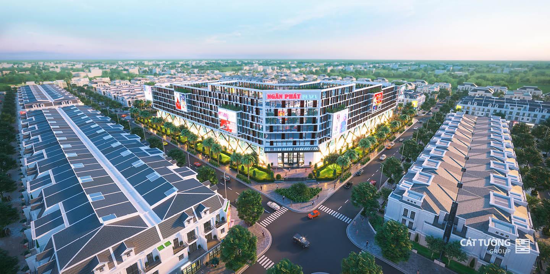 Phối cảnh dự án trung tâm thương mại Ngân Phát tỉnh Bình Phước