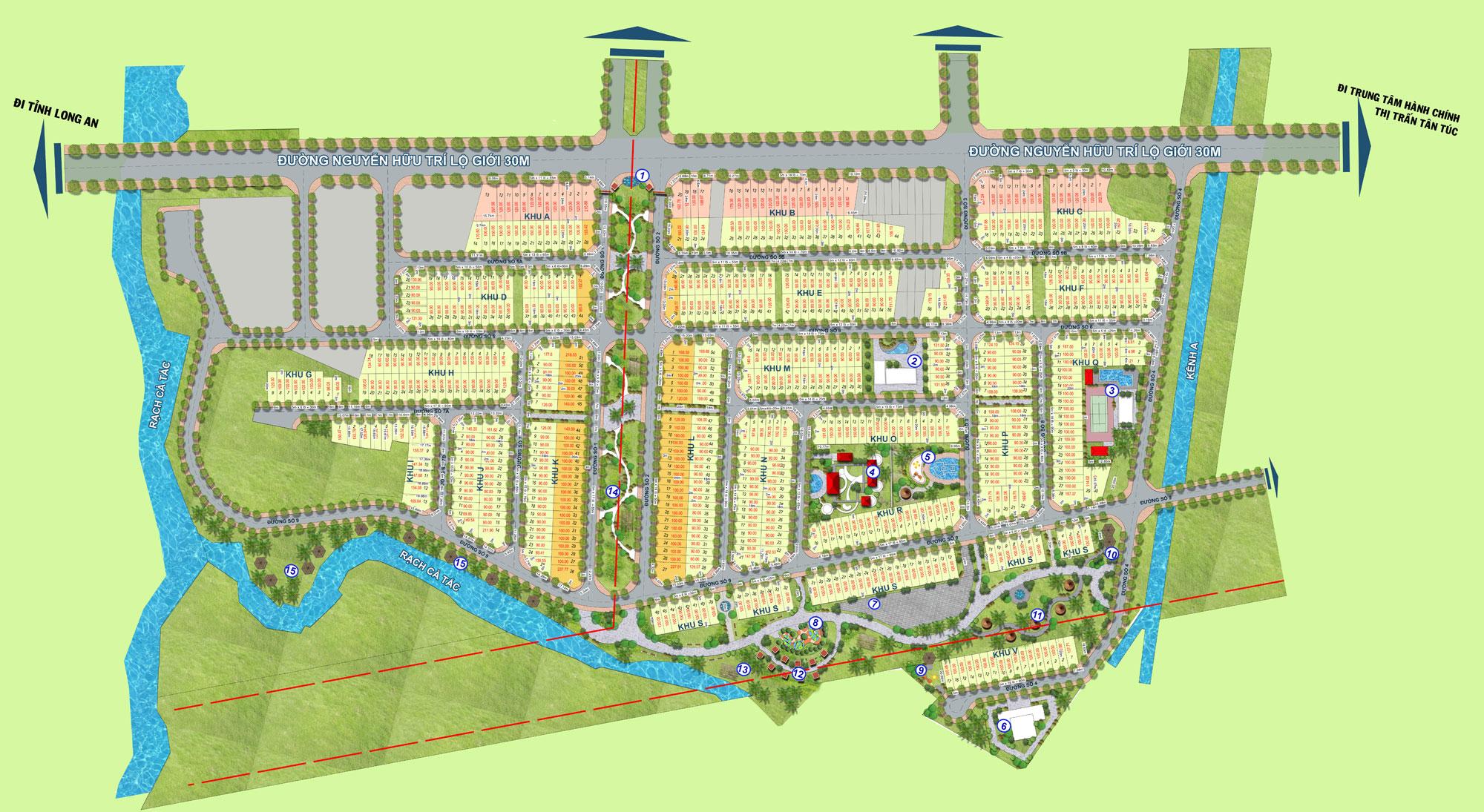 Mặt bằng tổng thể dự án An Lạc Riverside Bình Chánh