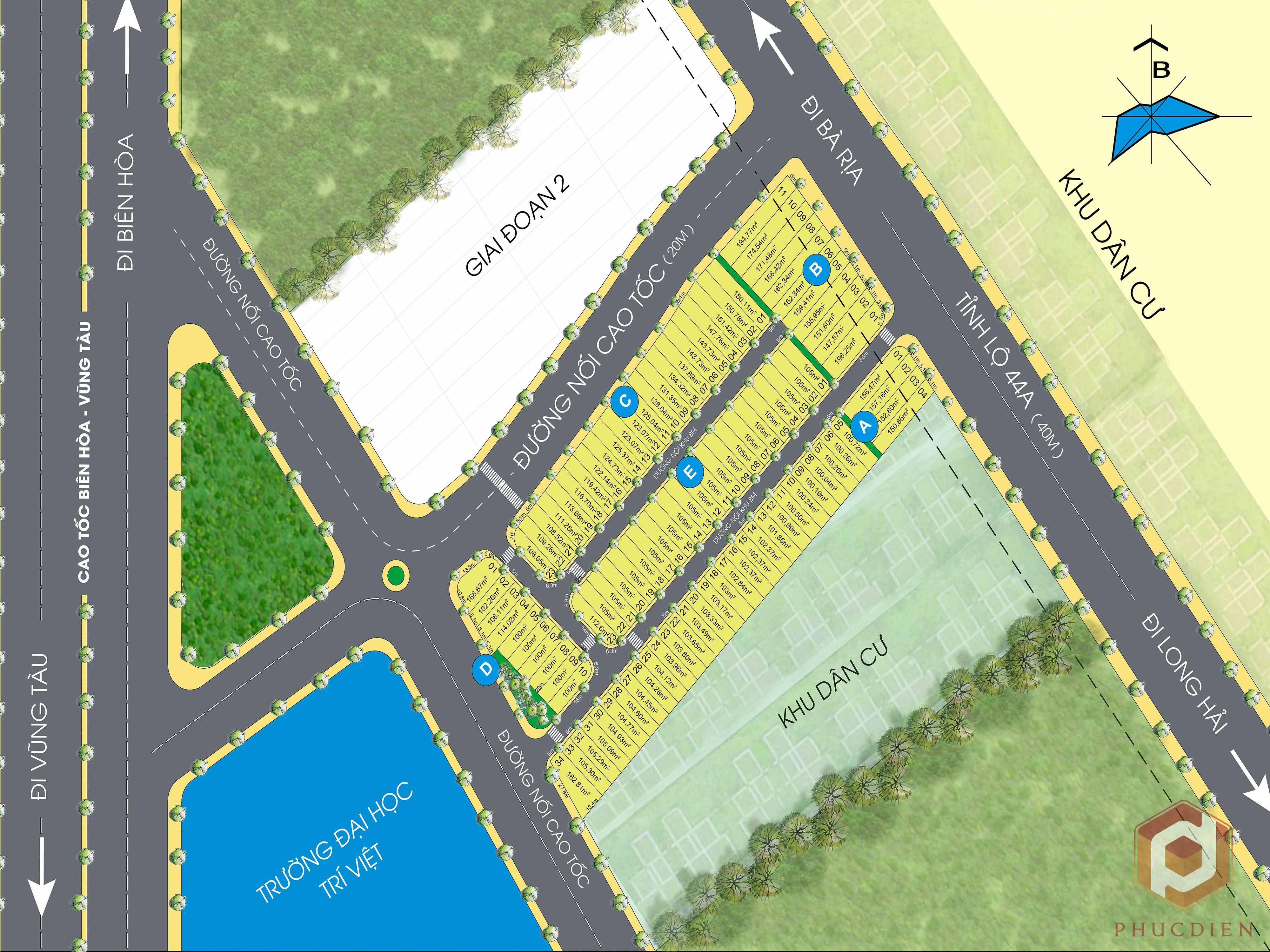 Mặt bằng dự án khu dân cư Golden Central Park Bà Rịa – Vũng Tàu