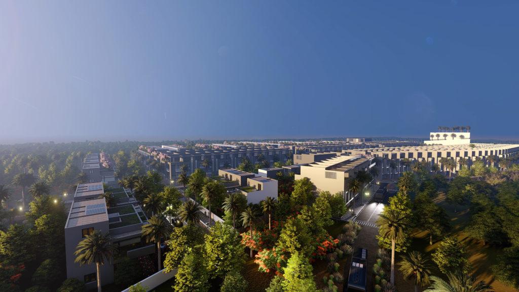 Phối cảnh dự án khu dân cư The Spring Town nhìn từ trên cao