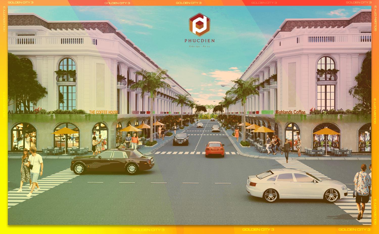 Phối cảnh tổng thể dự án khu dân cư Golden City 3