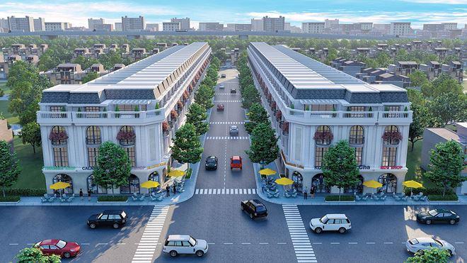 Phối cảnh nhà phố dự án Golden City 3 sẽ hình thành trong tương lai